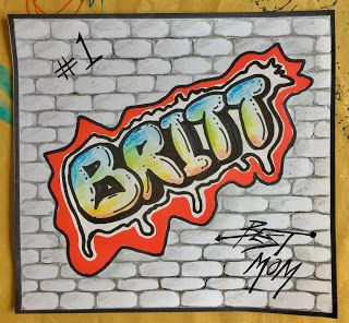Graffiti Lesson | Art, Kids art projects