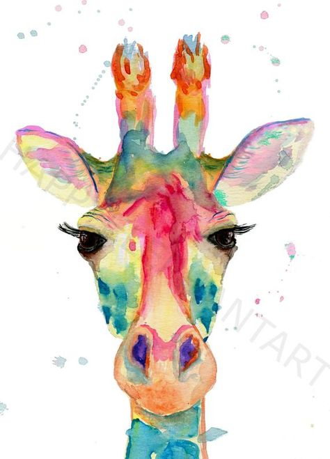This Colorful giraffe painting is a print of my original watercolor giraffe painting. I am absolutely in love with the colors of this Giraffe. This art work is perfect for any giraffe nursery or kids room. I am very proud of my prints and have spent a lot of time making sure they are very high