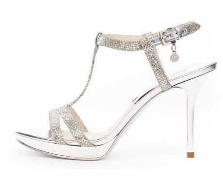f1de275118a Michael Kors Yvonne Metallic Tstrap Sandal in Silver - Lyst