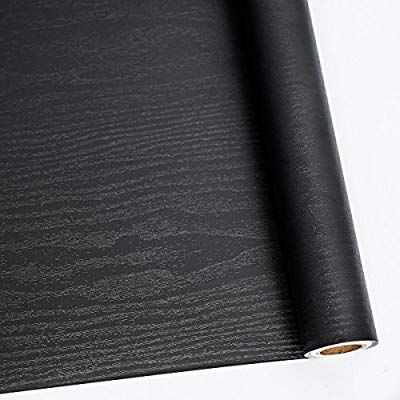 Amazon Com Abyssaly 24 X 118 Black Wood Contact Paper