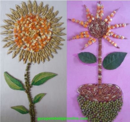 710 Koleksi Gambar Kolase Sederhana Dari Biji Bijian Gratis Kolase Gambar Gambar Flora Dan Fauna