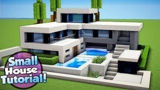 Minecraft How To Build A Small Modern House Tutorial Casas