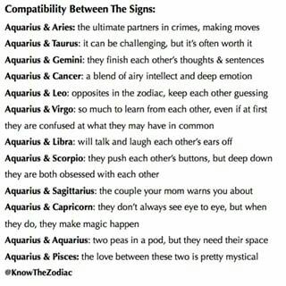 Do Aquarius And Cancer Choose A Good Couple