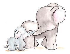 baby elephant drawings