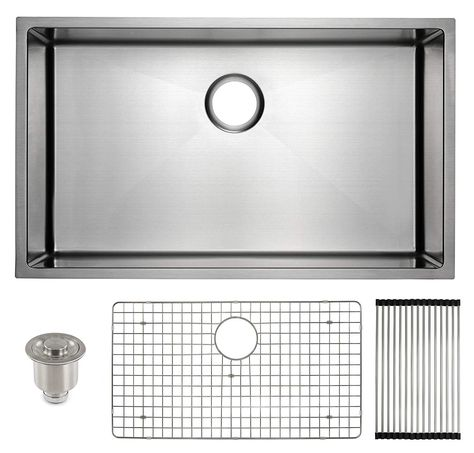 Frigidaire Undermount Stainless Steel Kitchen Sink 16 Gauge Deep Basi Stainless Steel Kitchen Sink Undermount Steel Kitchen Sink Stainless Steel Kitchen Sink