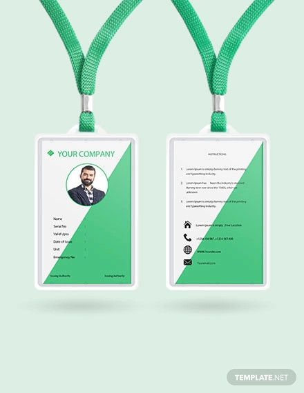 Free Staff Blank Id Card With Images Id Card Template
