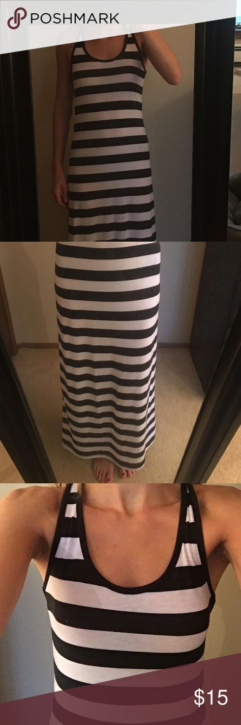 Black and white stripped maxi dress. Size small. Black and white stripped cotton maxi dress. Forever 21 Dresses Maxi