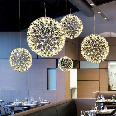 Modern Round Spark Ball Chandelier Firework Pendant Lamp Led
