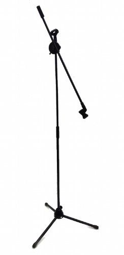 Double Microphone Stand Boom Mic Arm Adjustable Over 7 Foot Mike Stage Tripod Details Can Be Found By Clicking On The Imag Microphone Stands Microphone Mic