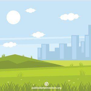Publicdomainvectors Org City Park Park City Easy Paintings Nature Vector