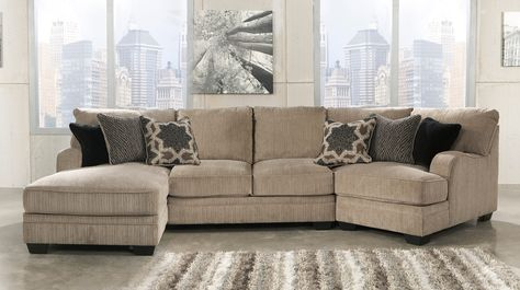 signature design by ashley katisha platinum 5piece sectional sofa with left cuddler miskelly furniture sofa sectional projects to try pinterest