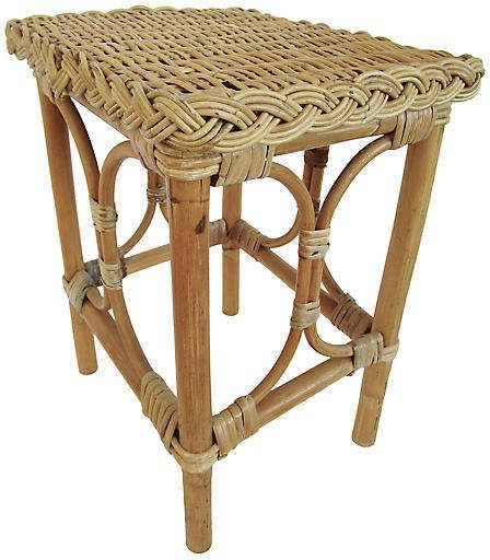 One Kings Lane Vintage English Rattan Bamboo Side Table Antiquelifestyle Rattan Side Table Luxury Coffee Table