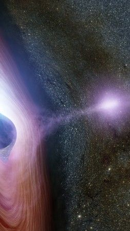 Black Hole Space 4k Vertical Black Hole Space Backgrounds Galaxy Wallpaper