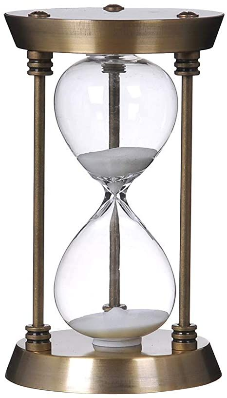 Bellaware 60 Minute Metal Hourglass Sand Timer Decorative Large Size Sand Clock Bronze In 2021 Sand Clock Hourglass Sand Timer Sand Timers