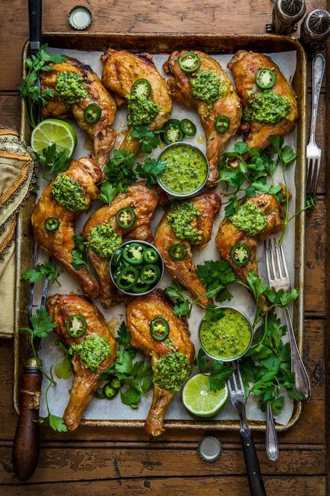 Traeger Smoked Chicken with Chimichurri