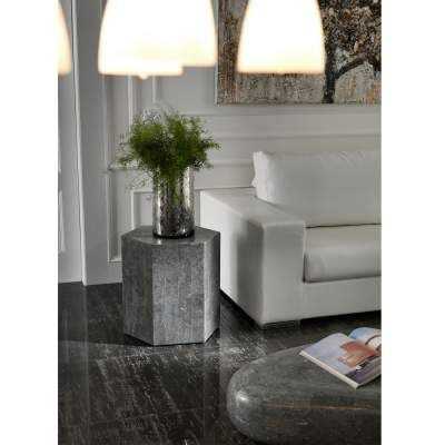 Cafe Moderne Floride Salon Hexagonal Table Basse Grise Table Basse Deco Maison