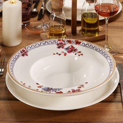 Villeroy Boch Artesano Provencal Vegetable Bowl Dessert Bowls Appetizer Plates Set Pink Dinner Plates