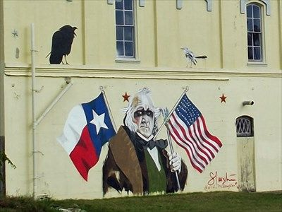 Sam Houston Mural Brenham Tx Murals On Waymarking Com Houston Murals Mural Sam Houston