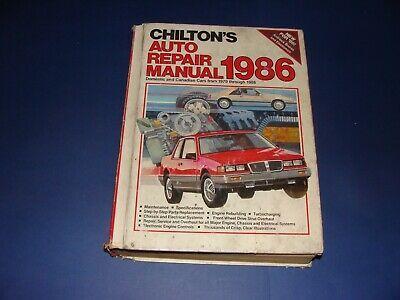 Advertisement Ebay Chilton S 1986 Auto Repair Manual For 1979 86 Domestic Canadian Cars In 2020 Auto Repair Repair Manuals Chilton
