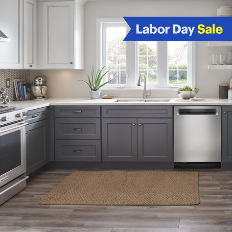 We also have free delivery and safe installation. Kitchen Cabinet Design, Painting Kitchen Cabinets, Kitchen Redo, Home Decor Kitchen, Kitchen Interior, Home Kitchens, Kitchen Remodel, Kitchen Dining, Gray Kitchen Cabinets