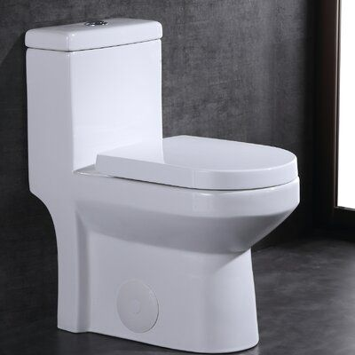 Deervalley Dual Flush Elongated One Piece Toilet Seat Included