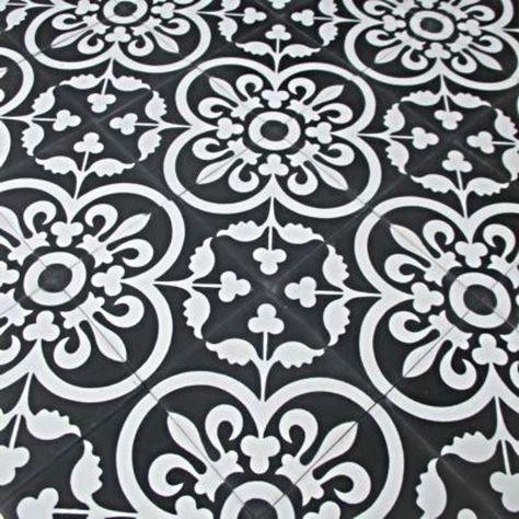 Black White Encaustic Tile