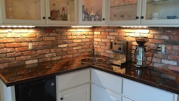 Kitchen Backslash Arabesque Backsplash Brick Veneer Backsplash