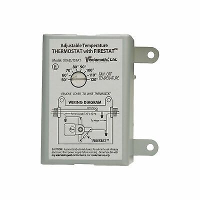 Ad Ebay Url Ventamatic Replacement Thermostat 15 Amps Xxfirestat Thermostat Thermostat Wiring Wireless Lights