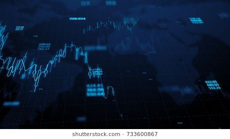 3d Render Statistic Graph Of Stock Market Data And Financial