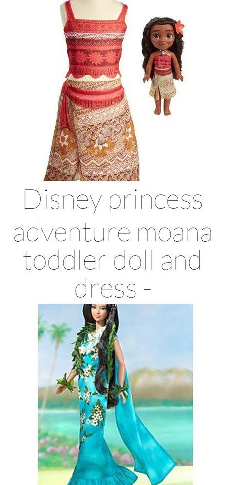Disney princess adventure moana toddler doll and dress - walmart.com