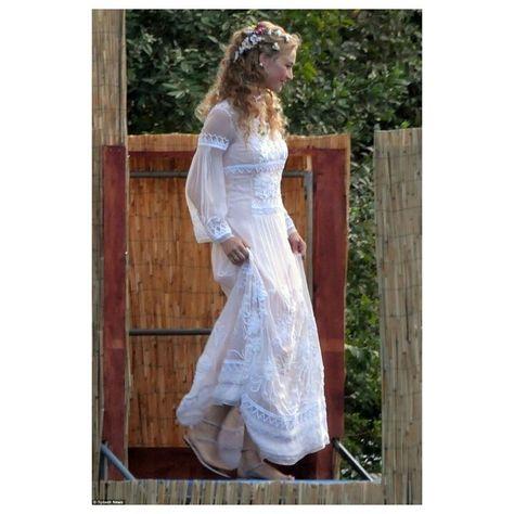 Beatrice Borromeo pre-wedding party in Alberta Ferretti dress