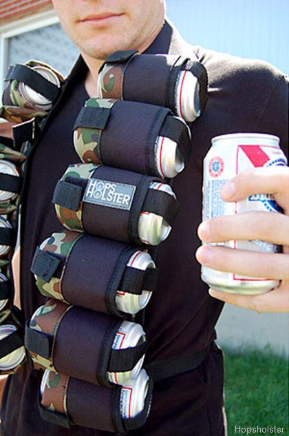 Hops Holster Sling Holds a 12 Pack   Bandolier, Beer