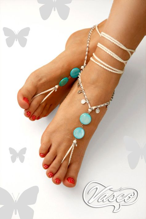 Hey, I found this really awesome Etsy listing at https://www.etsy.com/listing/216273927/barefoot-sandals-something-blue