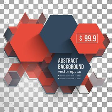 Vector Abstract Design Hexagonal Background Red And Blue Red Icons Blue Icons Abstract Icons Png And Vector With Transparent Background For Free Download Background Design Vector Abstract Design Red And Blue