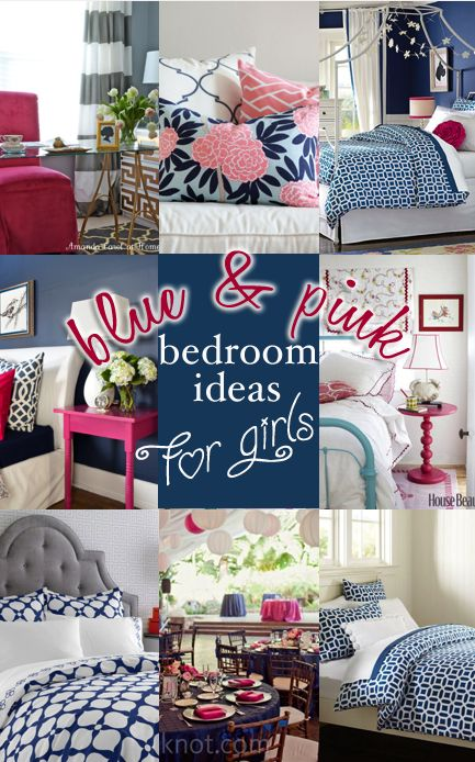 High Quality Blue And Pink Bedroom Ideas For Girls. Such Cute Ideas!  Entirelyeventfulday.com | Ideas For The Kiddies | Pinterest | Pink Bedrooms,  Bedrooms And Girls