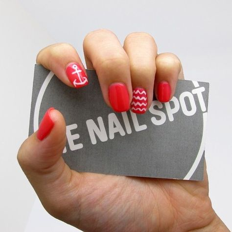 Nautical nail art for summer manicure by the nail spot west nautical nail art for summer manicure by the nail spot west vancouver nails nailart nauticalnails nails nails nails pinterest nail spot prinsesfo Image collections