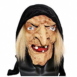Funny Latex Witch Nose with Elastic Strap Halloween Party Costume Toy