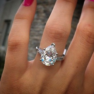 Picture 2 Of 2 Pear Shaped Diamond Engagement Rings Engagement Ring Shapes Top 10 Engagement Rings