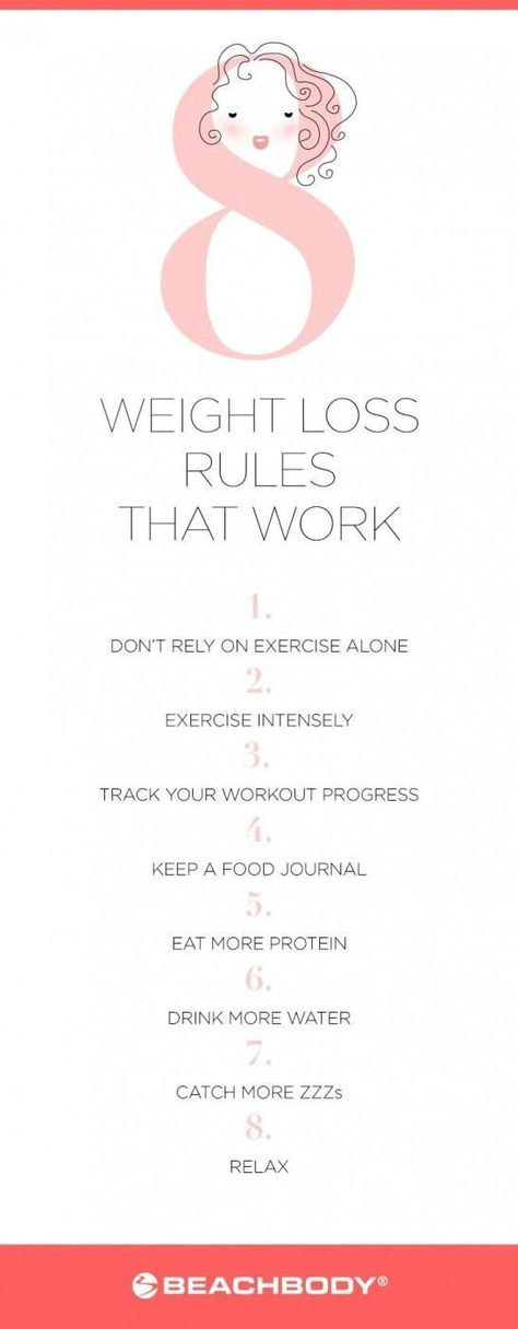 Want to know how to lose weight? Start with the following eight weight loss rules that work. Theyre proven by science to not only help you shed fat fast but also keep it off for good. // weight loss // work out // workout // healthy living // clean eati