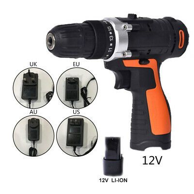 Sponsored Ebay Rechargeable Cordless Electric Screwdriver Drill Power Tool W Battery Charger Woodworking Tool Kit Electric Drill Electric Screwdriver