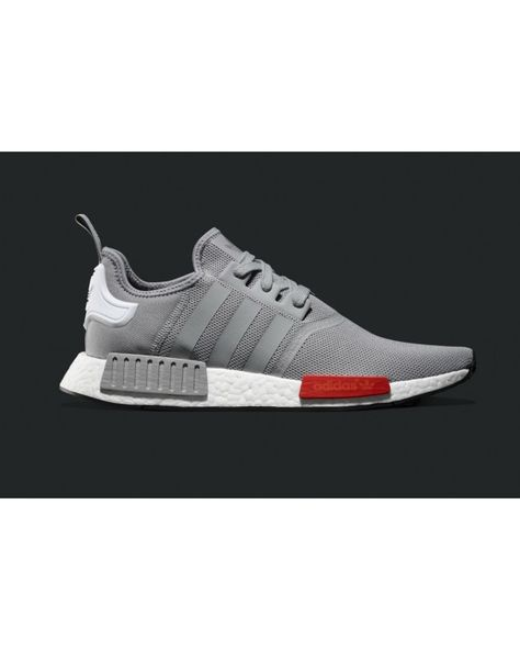 Fashion Adidas Originals NMD Red White Grey Men Shoes Hot ...