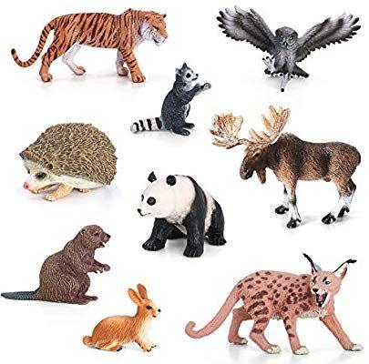 Amazon Com Volnau Animal Figurines Toys Set 9pcs Eurasia Animal