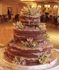 Naked German chocolate cake... Oh yes, this will be mine ...