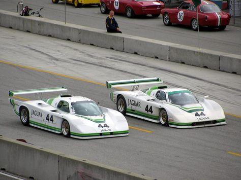 Group 44 Racing's Jaguars. Left: Jaguar XJR-5. Right ...