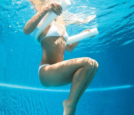 Shed pounds in the pool without swimming laps (or sweating buckets). Self Magazine's cool workout is a hot-day hit that gets results fast.