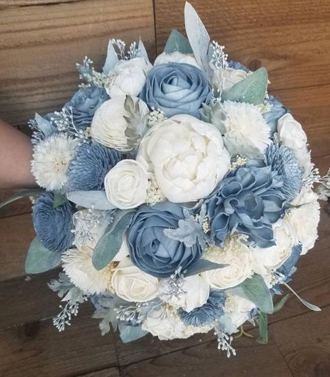 Dusty Slate Steel Blue Sola Wood Flower Bouquet Faux and dried Flower Stella Des. Dusty Slate Steel Blue Sola Wood Flower Bouquet Faux and dried Flower Stella Designs Winter Style the site click the link for even more selections :- maternity w