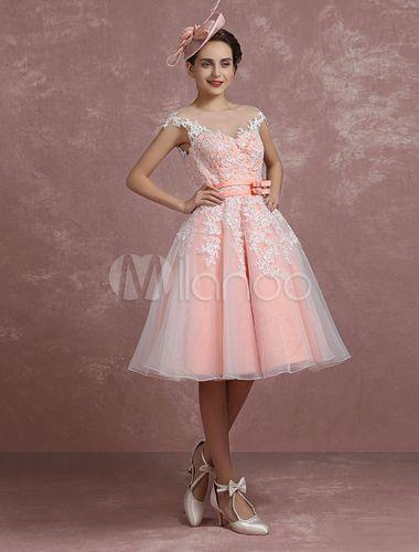 Wedding Dress Blush Pink Lace Lique
