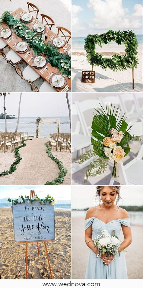 Beach Wedding is such a good idea if you love summer and some kind of unusual wedding. It could be a really interesting, intimate and unique wedding ceremony. #wedding #weddings #weddingideas #weddingdecor #beachwedding #summerwedding #outdoorwedding