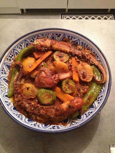 Couscous Karnit Poulpe Avec Images Cuisine Tunisienne