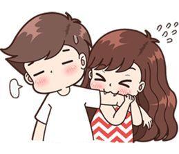 Boobib Cute Couples (für Mädchen) - LINE Aufkleber | LINE STORE  - Life.. (: - #Aufkleber #Boobib #Couples #cute #für #Life #LINE #Mädchen #STORE